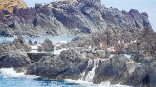 Natural Rock Pool Of Porto Moniz On Madeira, Portugal
