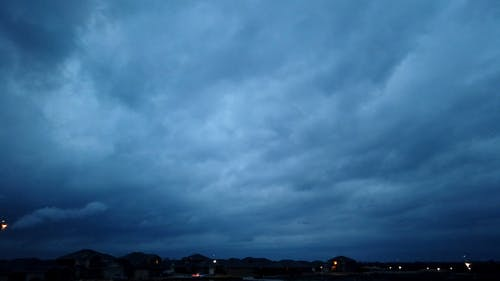 Clouds Formation In The Sky Moves In The Wind direction