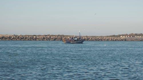 Fishing Boats Cascading On A Harbor