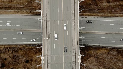 Drone Footage Of Cars On The Road
