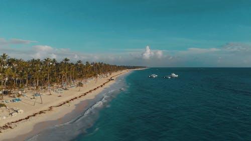 Aerial Footage Of A Beach Resort