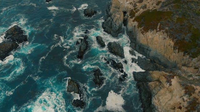 The Rocky Coastline Of In Northern California