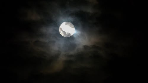 Close-up View Of A Full Moon