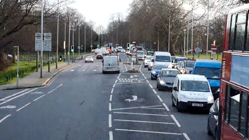Straßenverkehr Tagsüber