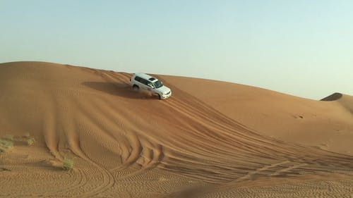 Two Vehicles On A Desert Drive
