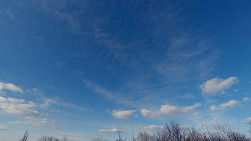 Thin Clouds Formation  In The Sky
