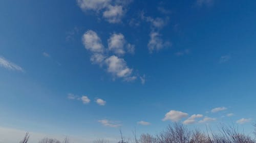 Time-lapse Video Of Cirrus Clouds Beneath The Blue Sky