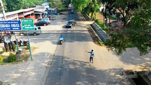 Traffic Flow In The Street Of Indonesia
