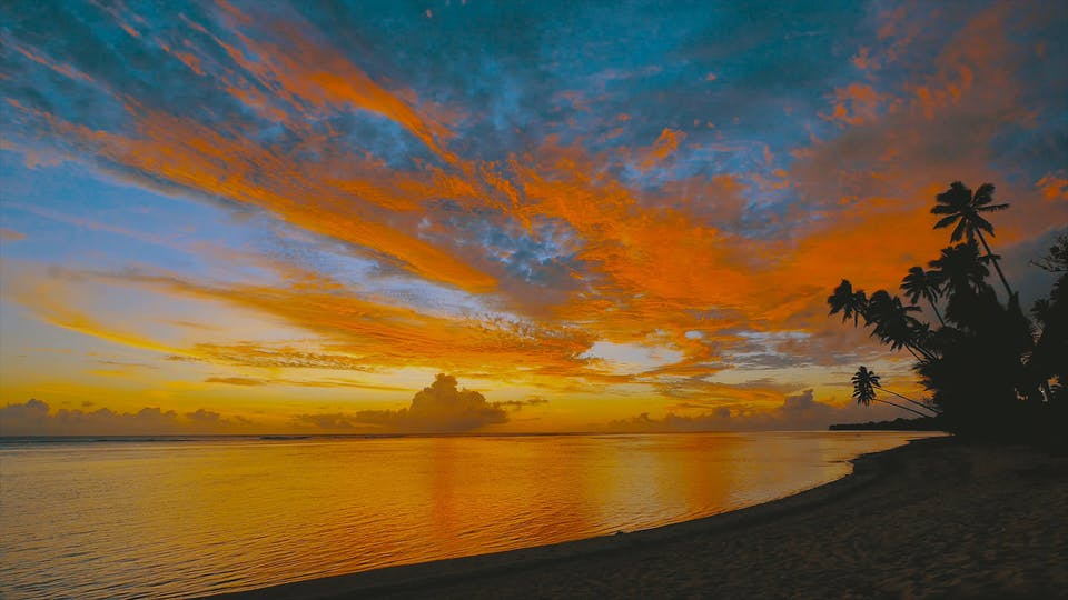 A Colorful Sunset By The Beach