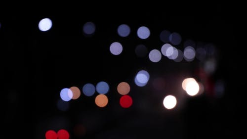 Out Of Focus Photography Of City Lights At Night