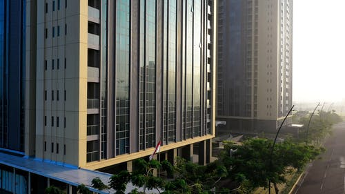 Exterior Design Of A Modern High Rise Buildings