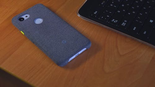 Backside Of A Cellphone In A  Pixel 3a Fabric Casing