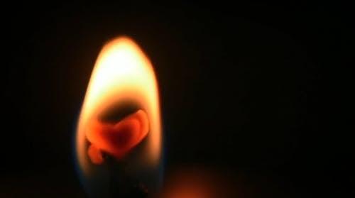 Close Up Widok Zapalonej świecy