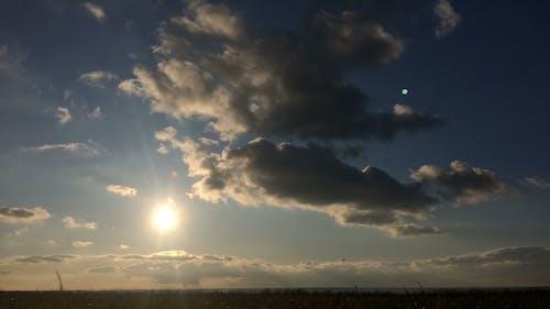 A Glowing Sun On The Sky
