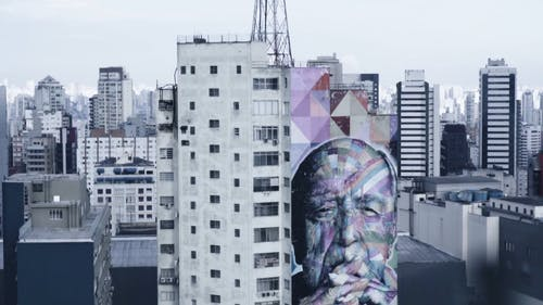Mural Painting On A Building Wall In Sao Paulo Brazil