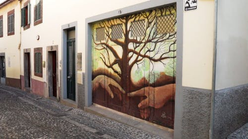 Artistic Painting On A Gate