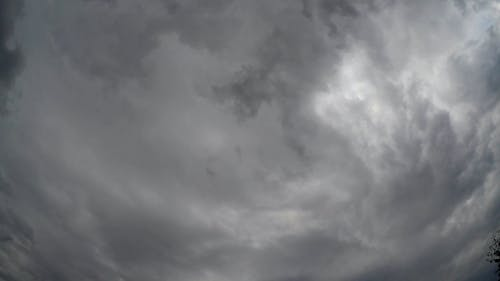 Dark Rain Clouds Formation Above The Sky