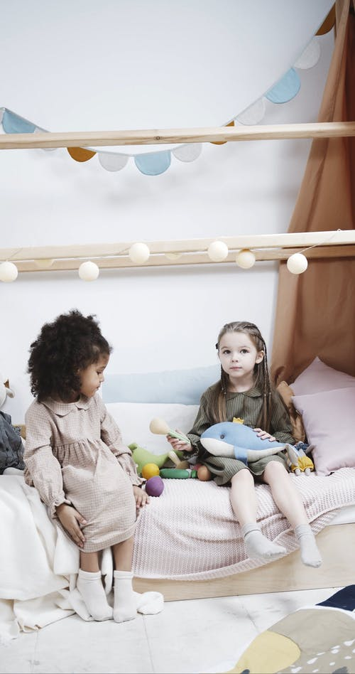 Kids Playing With Stuffed Animal Toys