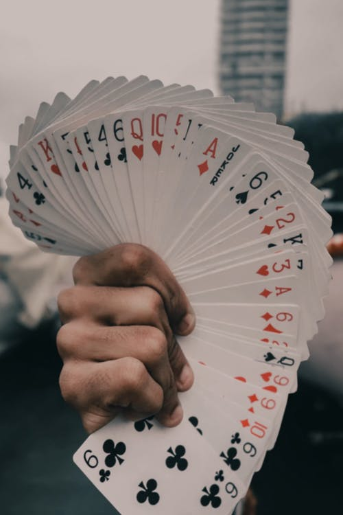 Holding A Whole Deck Of Cards