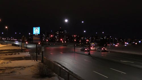 Footage Of The Road In Time Lapse