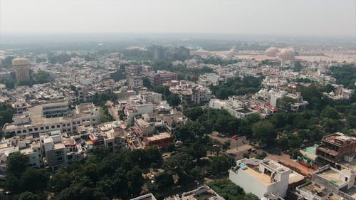 Aerial Footage Of The City