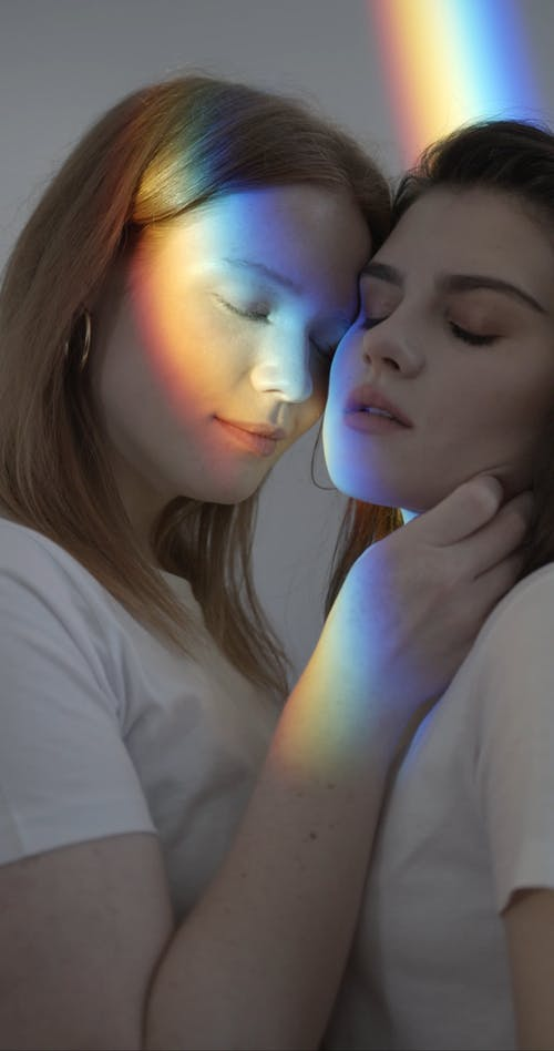 Lesbian Couple Deeply In Love With Each Other