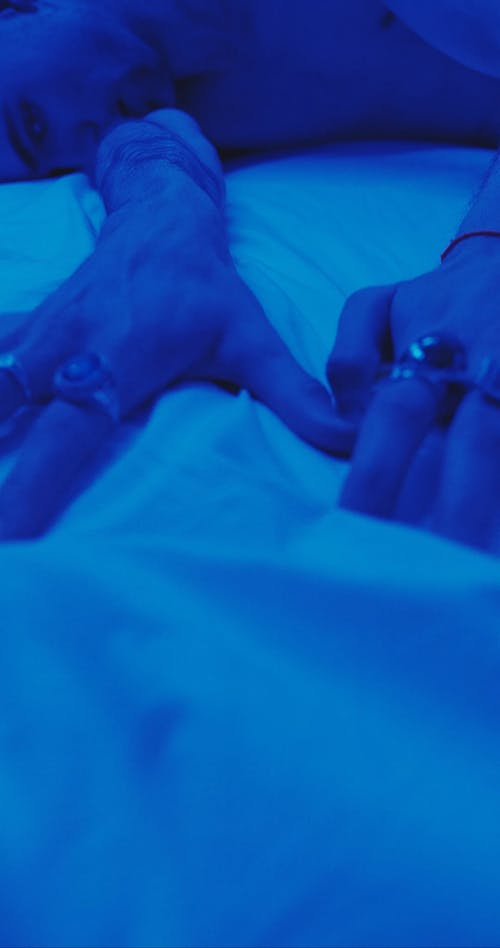 Man In A Blue Room With A Feeling Of Longing