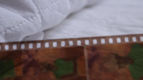 Close-up Footage Of A Film Negatives Taken Using An Analog Camera
