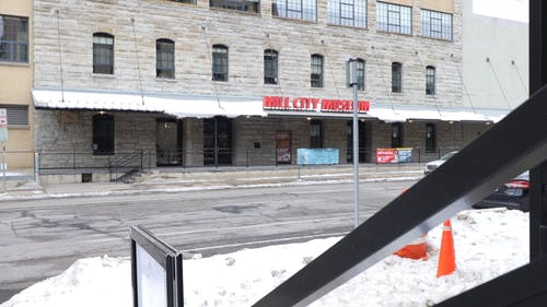 Video Footage Of The Front Exterior Of Mill City Museum