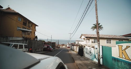 Traveling Footage On The Street Of A Residential Area