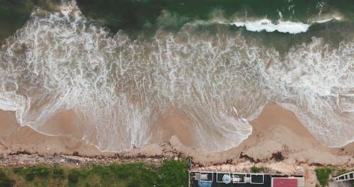 Sea Waves Hitting The Beach Shore