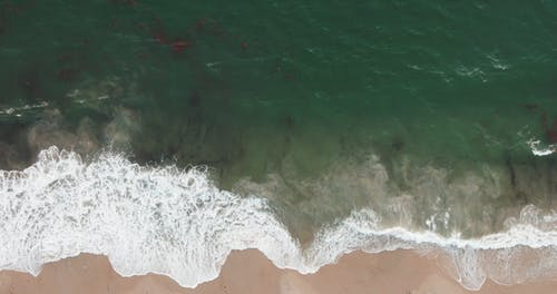 Top View Footage Of The Sea With Waves