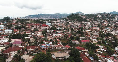 Aerial Footage Of The Town
