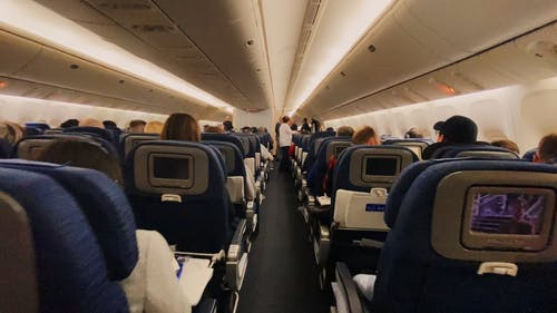 People Inside An Airplane