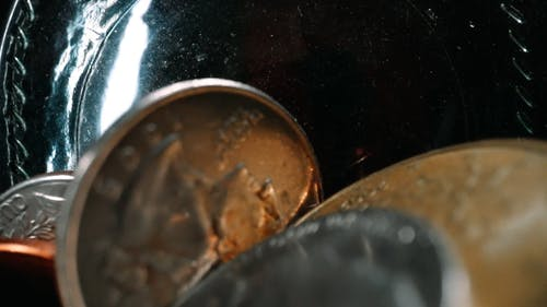 Pack Of Money Inside The Bottle