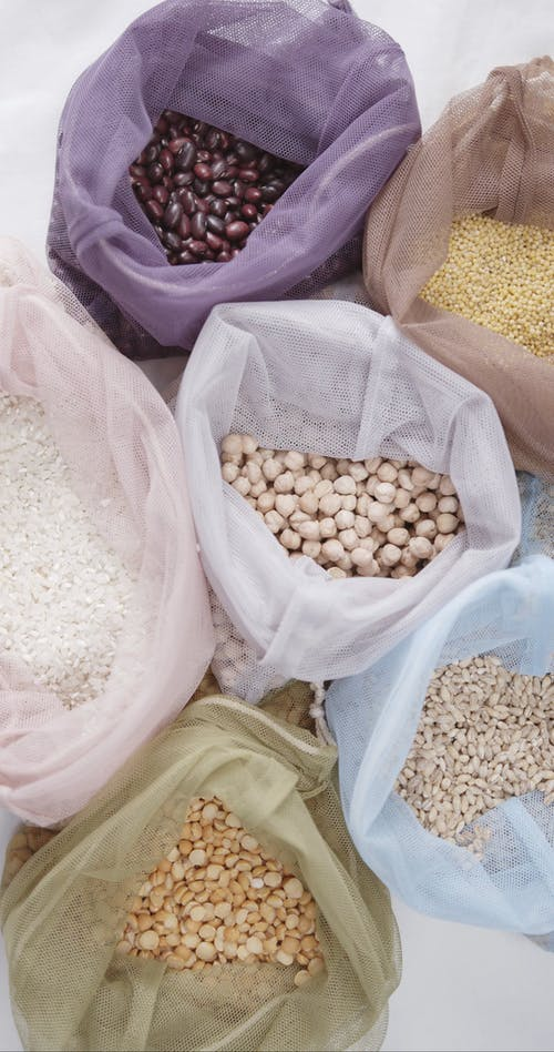 Reusable Draw String Bags Used For Grains And Beans Storage