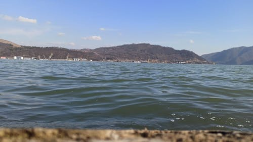 View Of The Sea At Water Level