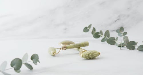 A Facial Massage Roller Made From Jade