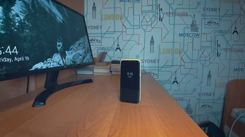 Footage Of A Mobile Phone On The Table