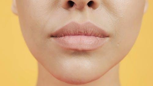 Nahaufnahme Der Lippen Einer Frau