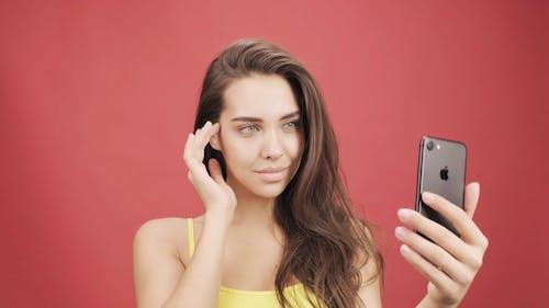 A Woman Taking Selfie