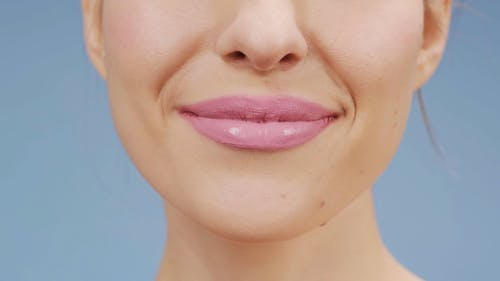 Woman With Pink Lipstick