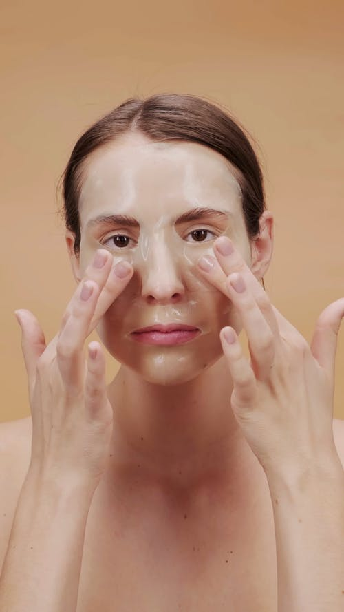 Woman With Clear Facial Mask