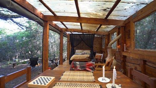 Ormandan İnşa Edilmiş çevre Dostu Orman Evi