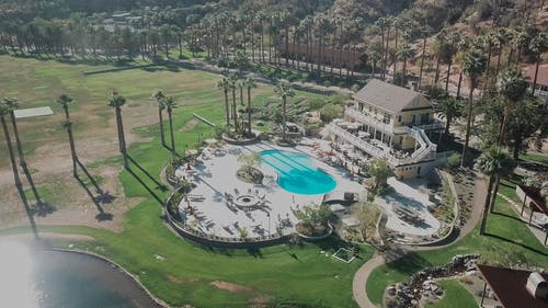 Drone Footage Of A Beautiful Summer Resort