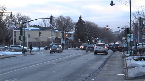 Footage Of The Road With Vehicle Waiting At The Stop Light