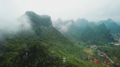 Aerial Footage Of The Mountain Using Drone