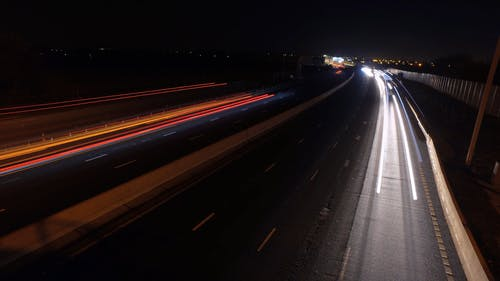 Night Driving Of Motor Vehicles On A Highway