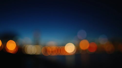 An Out Of Focus Video Footage Of Lights