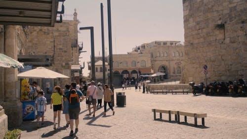 Tourists Visiting The Old City Of Jerusalem